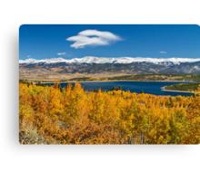 win Lakes Colorado Autumn Snow Dusted Mountains Canvas Print
