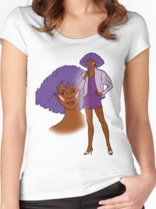 Jem and the Holograms - Shana - Color Women's Fitted Scoop T-Shirt