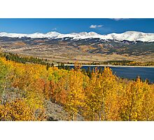 Twin Lakes Colorado Autumn Landscape Photographic Print