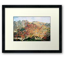 High Tatras in Fall XV. Framed Print
