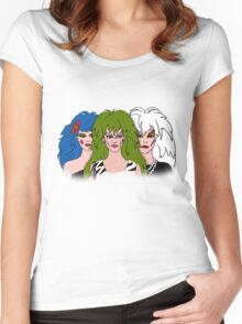Jem and the Holograms - The Misfits - Group Color Women's Fitted Scoop T-Shirt