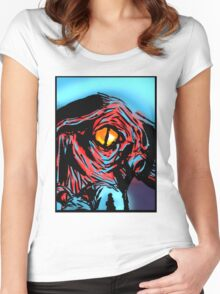 Inspired by - HP Lovecraft Eye of Cthulhu Women's Fitted Scoop T-Shirt