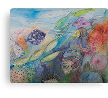 Colour Coral Dance Canvas Print