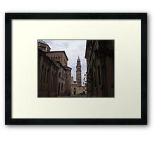 per te cara Anna  che un giorno hai passeggiato in questi luoghi...Italia  - Strada al Duomo - Parma - italyVETRINA rb explore 1 novembre 2013               -.. Framed Print