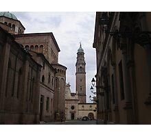 per te cara Anna  che un giorno hai passeggiato in questi luoghi...Italia  - Strada al Duomo - Parma - italyVETRINA rb explore 1 novembre 2013               -.. Photographic Print