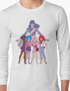 Jem and the Holograms - Group with Synergy - Color Long Sleeve T-Shirt