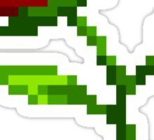 Pixel Rose Sticker