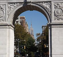 Empire State Building As Seen Through Washington Square Arch, Washington Square Park, New York City by lenspiro