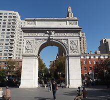 Washington Square Arch, Washington Square Park, New York City by lenspiro