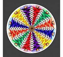 Oh Tannenbaum Mandala Print w/grey background Photographic Print