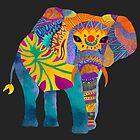 Whimsical Elephant II by Pom Graphic Design