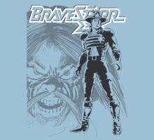 BraveStarr - Tex Hex and Marshall BraveStarr - Black Line Art One Piece - Short Sleeve