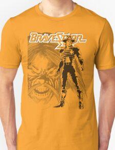 BraveStarr - Tex Hex and Marshall BraveStarr - Black Line Art Unisex T-Shirt