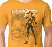 BraveStarr - Tex Hex and Marshall BraveStarr - Black Line Art Unisex T-Shirt