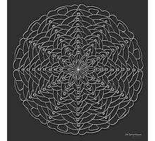 Oh Tannenbaum Mandala Print, white design Photographic Print