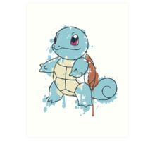 Squirtle Painted  Art Print