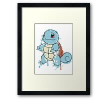 Squirtle Painted  Framed Print