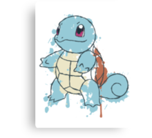 Squirtle Painted  Canvas Print