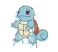 Squirtle Painted  Photographic Print