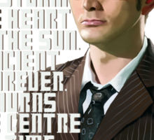 David Tennant - He's wonderful Sticker