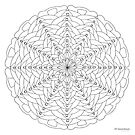 Oh Tannenbaum Mandala Print - Color Your Own! by TheMandalaLady