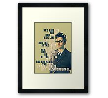 David Tennant - He's wonderful Framed Print
