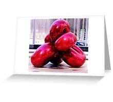Jeff Koons Red Balloon Greeting Card