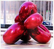 Jeff Koons Red Balloon Poster