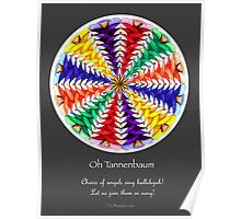 Oh Tannenbaum Mandala Poster w/grey background Poster