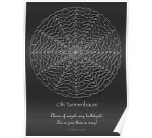 Oh Tannenbaum Mandala Poster - white design Poster