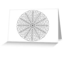 Oh Tannenbaum Mandala Card - Color Your Own! Greeting Card
