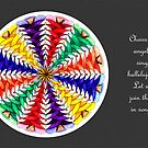Oh Tannenbaum Mandala Card w/grey background & msg by TheMandalaLady