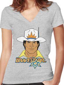 BraveStarr - Marshall BraveStarr #2 - Color Women's Fitted V-Neck T-Shirt