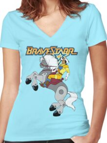 BraveStarr - Thirty Thirty and BraveStarr  - Color Women's Fitted V-Neck T-Shirt