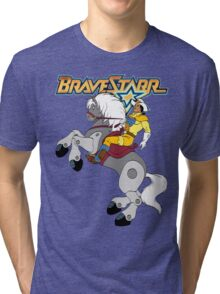 BraveStarr - Thirty Thirty and BraveStarr  - Color Tri-blend T-Shirt