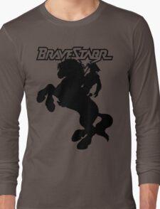 BraveStarr - Thirty Thirty and BraveStarr  - Solid Black - Shadow Art Long Sleeve T-Shirt