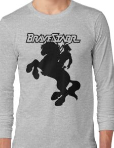BraveStarr - Thirty Thirty and BraveStarr  - Solid Black - Shadow Art Long Sleeve T-Shirt