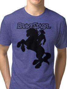 BraveStarr - Thirty Thirty and BraveStarr  - Solid Black - Shadow Art Tri-blend T-Shirt