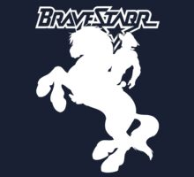 BraveStarr - Thirty Thirty and BraveStarr  - Solid White - Shadow Art Kids Tee