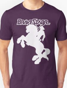 BraveStarr - Thirty Thirty and BraveStarr  - Solid White - Shadow Art T-Shirt