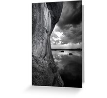 One Sided BW Greeting Card