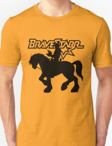 BraveStarr - Thirty Thirty and BraveStarr #2  - Solid Black - Shadow Art T-Shirt