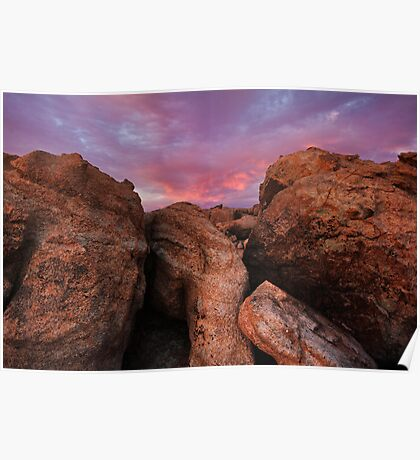 Over Boulders Poster