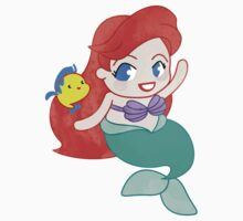 Ariel with Flounder *Chibi by cocolima