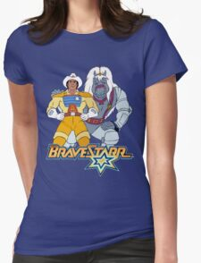 BraveStarr - Thirty Thirty and BraveStarr #3  - Color Womens Fitted T-Shirt
