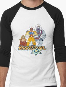 BraveStarr - Thirty Thirty, Fuzz and BraveStarr - Color Men's Baseball ¾ T-Shirt