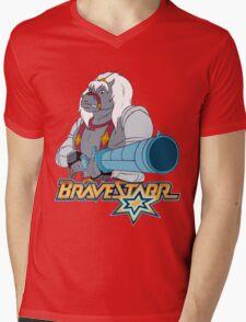 BraveStarr - Thirty Thirty and Sara Jane - Color Mens V-Neck T-Shirt