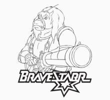 BraveStarr - Thirty Thirty and Sara Jane - Black Line Art One Piece - Short Sleeve