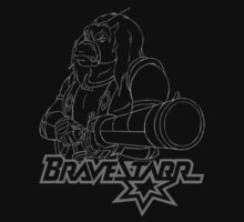 BraveStarr - Thirty Thirty and Sara Jane - White Line Art One Piece - Long Sleeve