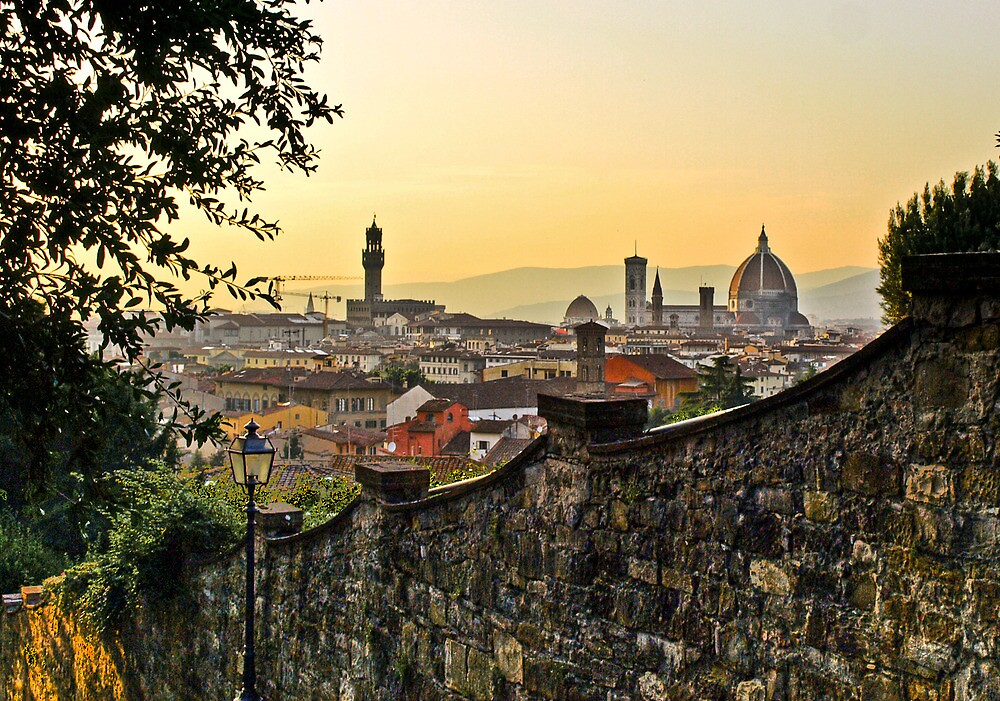 Summer sunset in Florence by Denise Baker